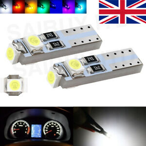 T5 3 LED Car Bulb for Dash, Clock etc 12 volt 286 3 3528 SMD WEDGE BULB CANBUS