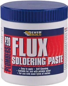 Everbuild P20 Plumbers Flux Soldering Paste, Off White, 140 g