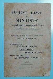 1906 Price List - Minton's Glazed & Enamelled Tiles