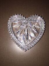 Wedgwood Crystal Heart Trinket Dish