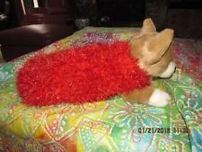 Dog Apparel Bright SUPER CELEBRATION RED FUZZYBUG SWEATERS Soft Warm med