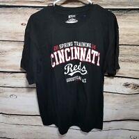 NEW Cincinnati Reds Spring Training Men's Size Large Short Sleeve T Shirt Black