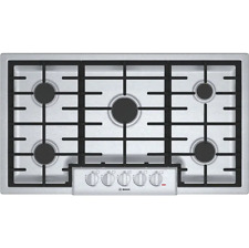 """New listing Bosch Ngm8655Uc 800 36"""" 5 Burners Stainless Steel Gas Cooktop Stainless Steel"""