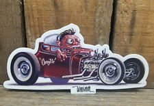 1927 FORD T COUPE STICKER HOT ROD KEITH WEESNER ART DECAL RAT FINK WEIRD OHS VTG