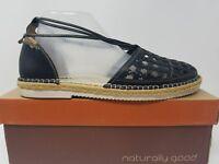 Pikolinos Cadamunt Womens Espadrille Flat Size 41 10.5 11 Black Leather W3K-3631