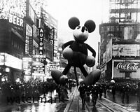 1934 Macy's Thanksgiving Parade Mickey Mouse Float Black & White  8 X 10 Photo