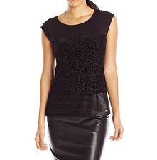 4155 Calvin Klein Womens Black Leopard Sleeveless Tank Top Blouse Small S $59