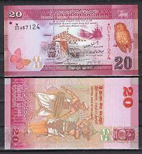 SRI LANKA  20  RUPIAS 2010 Pick # 123   SC  UNC