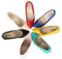7 Farben Damen Glänzend Gr.30-48 Lackleder Stilettos Super High Heels Pumps OL