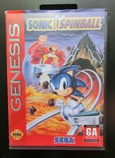 Sonic The Hedgehog (Sega Genesis) Spinball with Case & Booklet Excellent Cond
