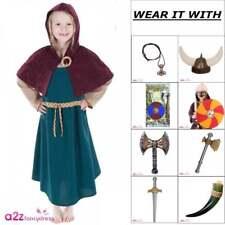 Girls Viking Girl Costume Saxon Norse Nordic Historical Childrens Fancy Dress