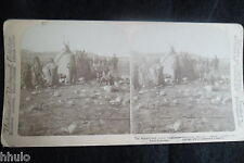STB035 esquimaux tente toupiks photo Stereo Photography Stereoview