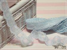 14yds mesh net eyelet vintage style lace trim 3cm Blue YH959A laceking2013