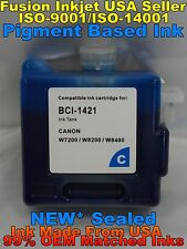Cartridge fits BCI-1421 Canon W8200PG W8400 cyan c pigment ink not oem