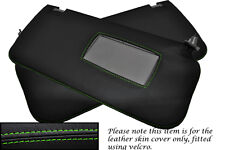 Verde Stitch encaja Nissan Navara D22 2001-2004 2x Sun Visor Cuero cubre sólo