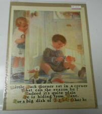 1922 JELL-O Little Jack Horner Rhyme Clipping 10x13 Full Page Color