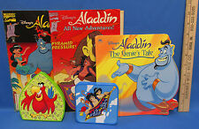 Aladdin Burger King Toys 2 Comics and 1 Book Disney Parrot Monkey Iago Abu Lot 5