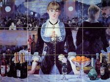 Art Monet Bar Wine Mural Tumbled Marble Decor Baht Backsplash Tile #194