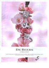 PUBLICITE  ADVERTISING 2008  DE BEERS joaillerie bijoux