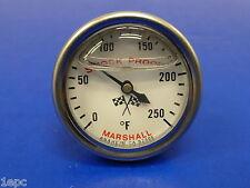 Marshall Gauge 0-250 F Direct Mount Engine Thermometer Transmission Temp 3/8 NPT