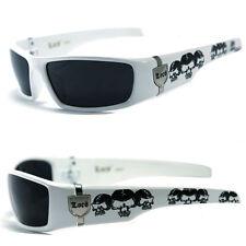 Locs Mens Cholo UV400 Biker Sunglasses - White LC55