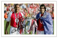THIERRY HENRY & ROBERT PIRES ARSENAL AUTOGRAPH SIGNED PHOTO PRINT SOCCER