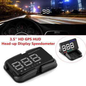 "3.5"" HD Car A5 HUD Head Up Display GPS Speedometer Speed Warning Alarm Detector"