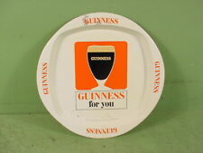 """Vintage """"Guinness For You"""" Stout Beer Beer Tin Advertising Ashtray Sign"""