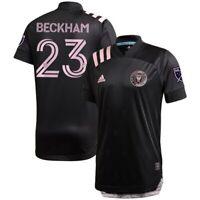 David Beckham Inter Miami CF adidas 2020 Inaugural Away Authentic Jersey - Black
