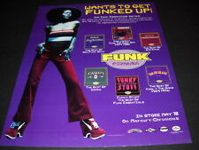 Con Funk Shun Cameo Bar-Kays Parliament Get Funked Up 1993 Promo Poster Ad mint