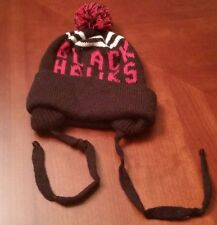 NEW VINTAGE NHL CHICAGO BLACKHAWKS POM KNIT HAT SIZE S/M