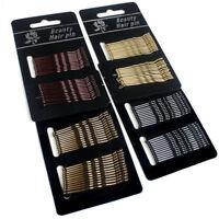 60Pcs Set Salon Black Invisible Flat Top Bobby Pins Grips Barrette Hair Clips