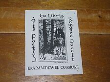 Vintage M.B. Hedley Signed Dark Castle in Forest ARTS POETRY ROMANCE OCCULT E. &