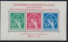Berlin Block 1 III postfrisch / **, PLATTENFEHLER, Mi. 2.500,- Euro (53880)