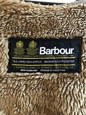 Barbour Warm Pile Liner For Wax Jacket  Excellent Conditions