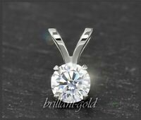 Diamant 585 Gold Brillant Reiter Anhänger mit 0,25ct, VS2; 14 Karart Weißgold