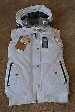 TRUE RELIGION AVIATOR DOWN Vest W/ Hood S NWT$349 TR Gold Logo's-Winter White!
