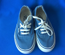 VANS Canvas Casual Shoes Trainers UK 5.5 EU 39 Blue Unisex
