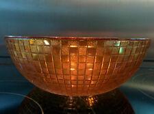 VINTAGE QUADRATO (a Scacchi) design CARNIVAL Glass Bowl/semisferasup