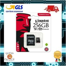 Kingston Micro SD 256GB Class 10 UHS Canvas Scheda Memoria SPEDIZIONE CON POSTA1
