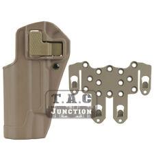 CQC Serpa Funda de pistola de mano izquierda en la cintura con plataforma Molle Para Colt 1911 M1911