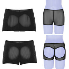 Sexy Women's Mesh Open Butt Panties See Through Boxers Shorts Briefs Underwear