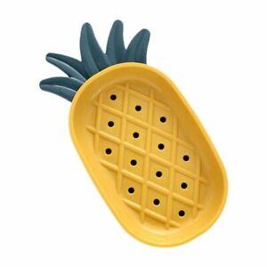 Nordic Pineapple Design Soap Draining Dish Tray Holder Bathroom Storage Supplies
