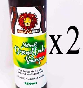 2x DREADLOCK SHAMPOO. Natural, fresh, dandruff-free, clean dreads. Save $$$