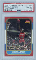 1996 ULTRA GOLD DECADE EXCELLENCE MICHAEL JORDAN 86 FLEER RC ROOKIE #U4 PSA 10