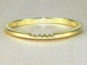18k Yellow Gold .750 High Polish Thin Wedding Band Fine Ring-Size 7.75