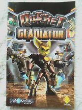 73710 Instruction Booklet - Ratchet Gladiator - Sony PS2 Playstation 2 (2005) SC