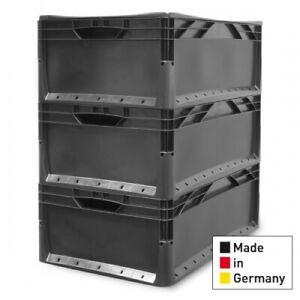 3x  Eurobehälter EuroBox 60x40x22 cm Lagerbox Stapelbox 600x400x220 mm