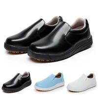Men's Women's Pull On Leather unisex Loafers Occupational Shoes Casual Shoes