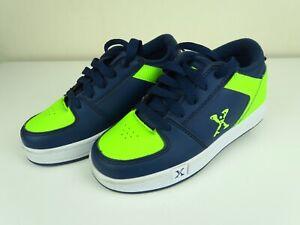 Sidewalk Sports X Heelys Kids Trainers Size 13 Green Navy Hardly Used